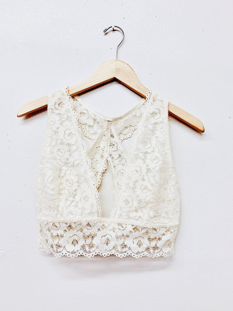 Pretty In Lace Bralette- Ivory