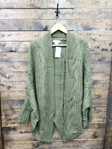 Dressing Down A Little Cardi - Olive