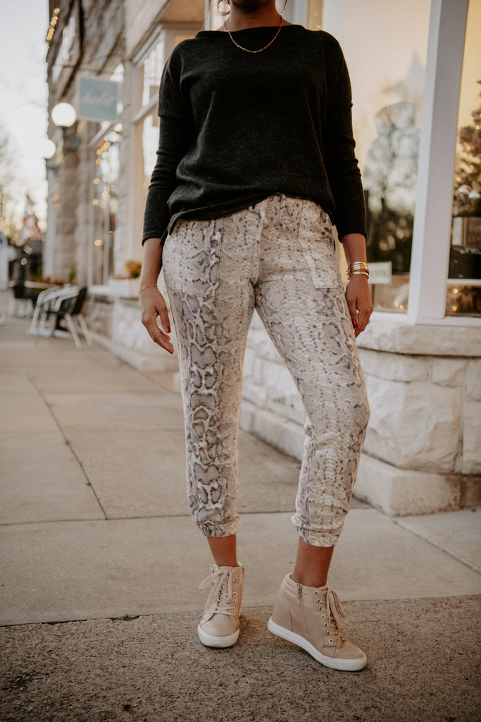 City Escape Snakeskin Jogger