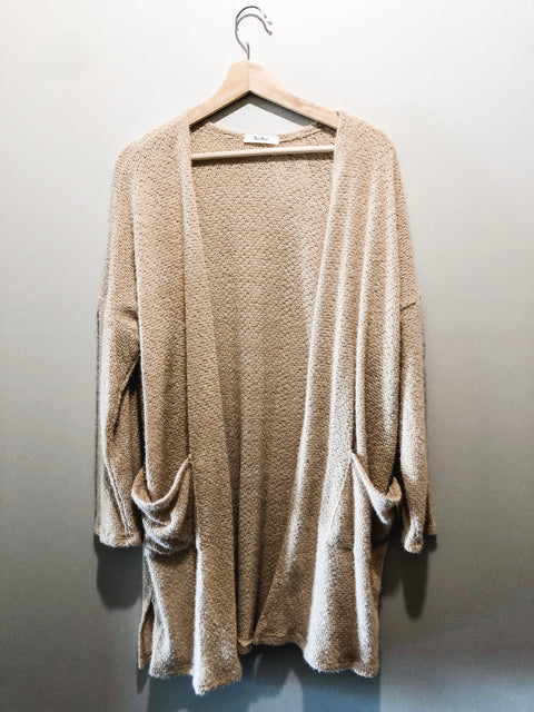 Cuddled Up Cardigan- Taupe