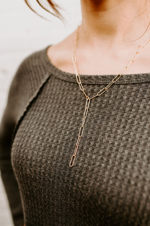 Chain Y Necklace- Gold Plated