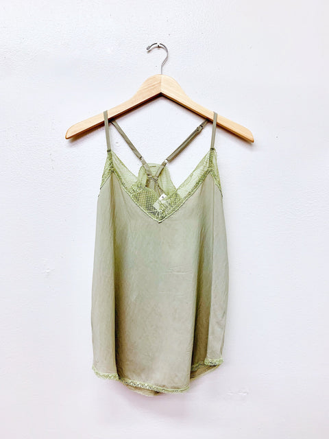 Ivy Lace Cami - Sage