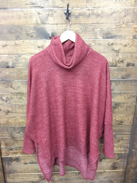 Aiming To Please Sweater - Burgundy