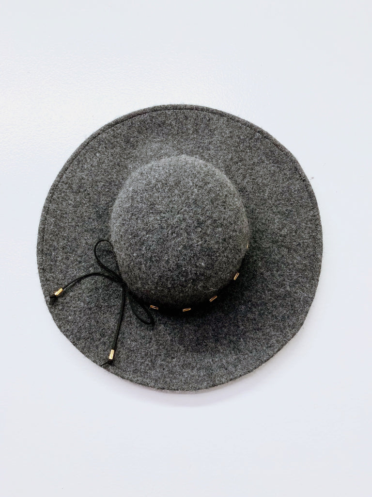 Floppy Girl Hat - Charcoal