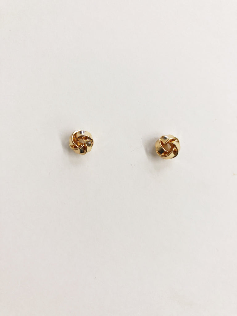 Knotted With Care Studs - Gold