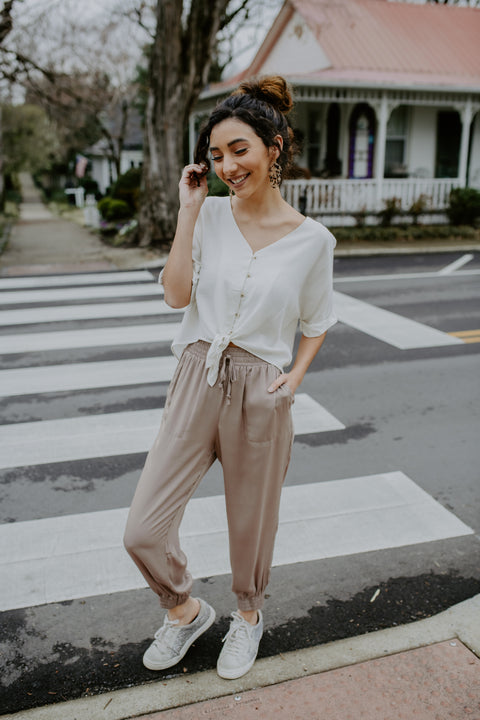 Walk This Way Pant- Khaki