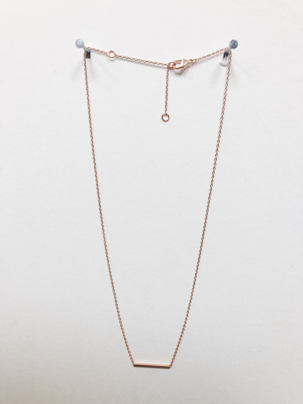 At The Bar Necklace - Rose Gold