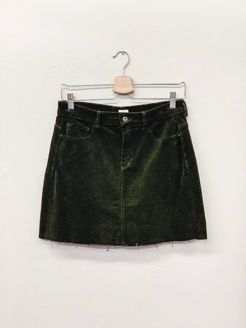 At Times Like This Skirt- Olive