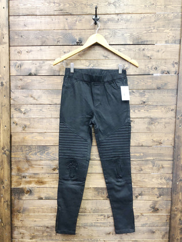 Black Moto Zipper Legging