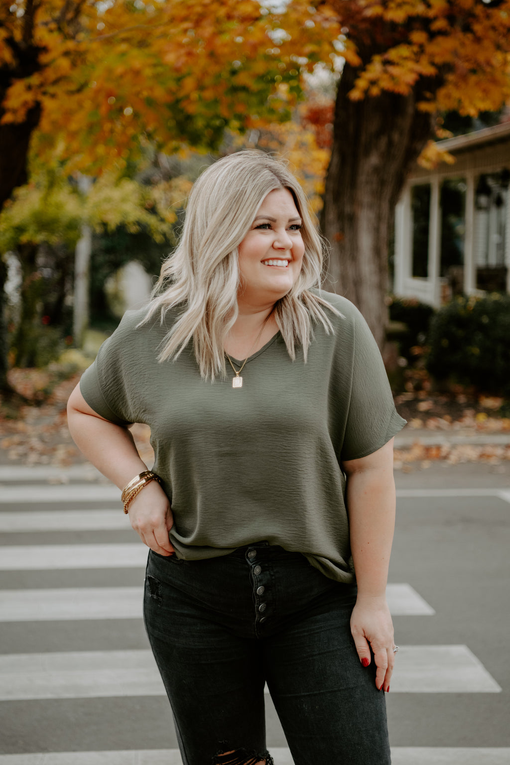 Nothing To Lose Top- Olive