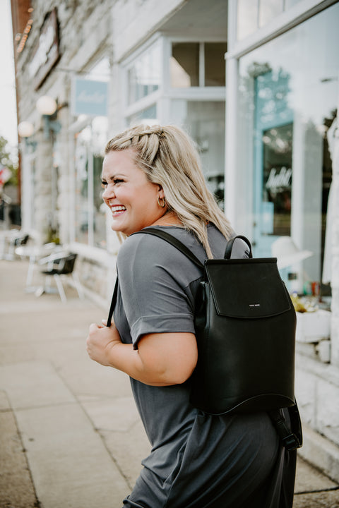 Kim Convertible Backpack - Black