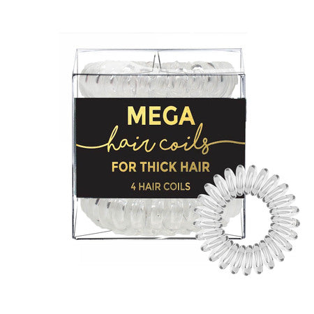 Mega Hair Coils - 4 Pack Clear