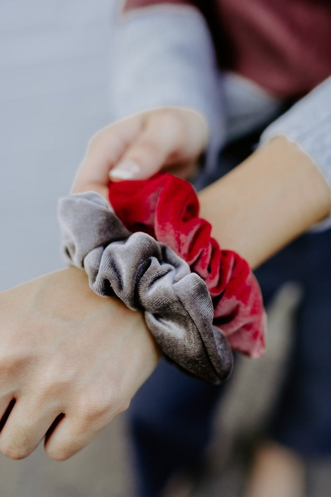 Bronzed Rose Velvet Scrunchies