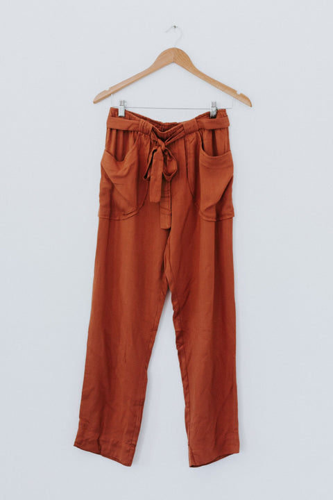 Apart From Me Pants - Rust