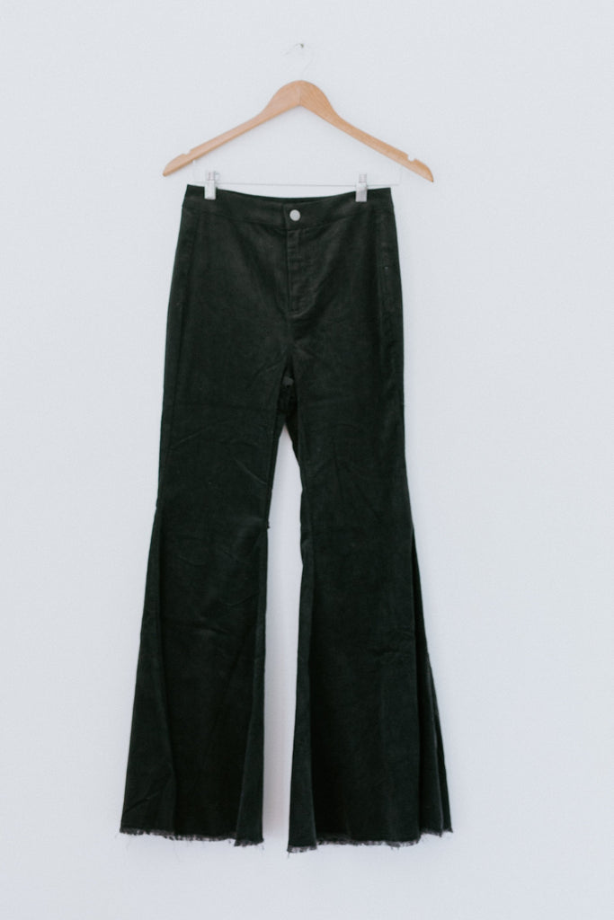 It's All In The Flare Pant - Charcoal