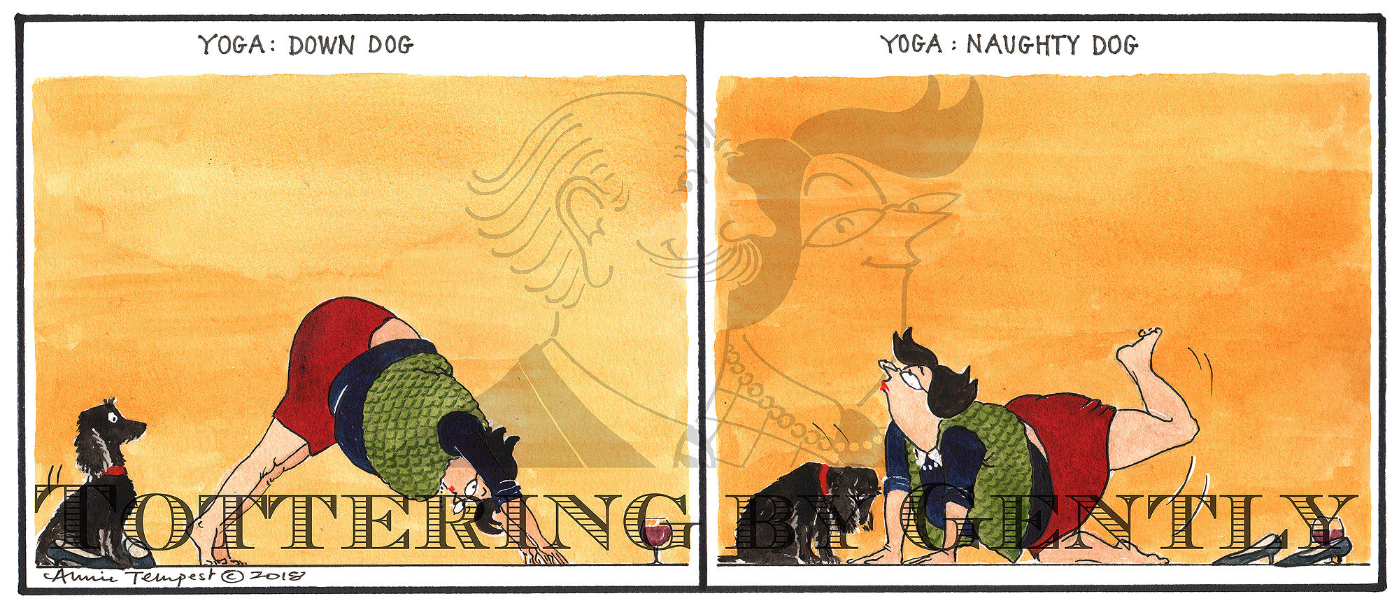 Yoga: Down dog - naughty dog... (CL1235)