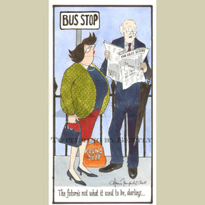 Couples Calendar 2013... Cover Design...  Pound Shop/Bus Stop... (S1119)