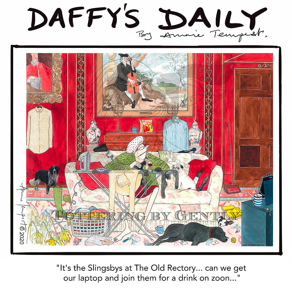 Daffy's Daily - Slingsby's drink on zoom (DD19)