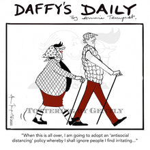 Load image into Gallery viewer, Daffy's Daily - Antisocial distancing (DD66)