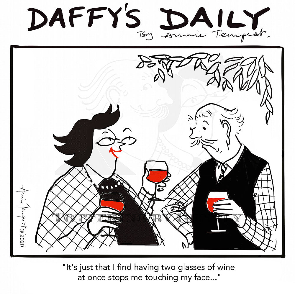Daffy's Daily - Two glasses of wine (DD45)