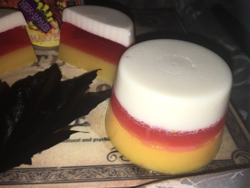 Harvest Three Layered Candycorn Hex Soap