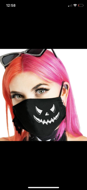 Bat mask/Jack o lantern black mask