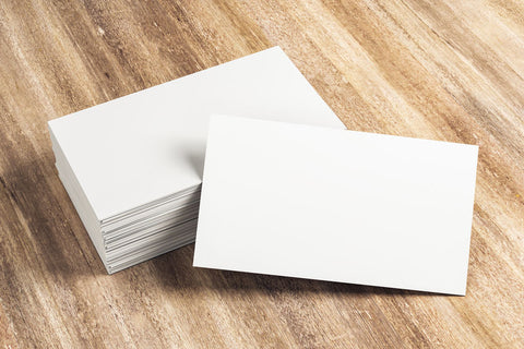 stack of unused paper business cards