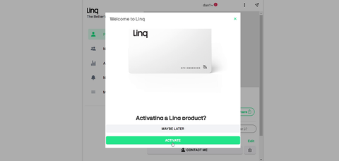 Activation request to Linq product