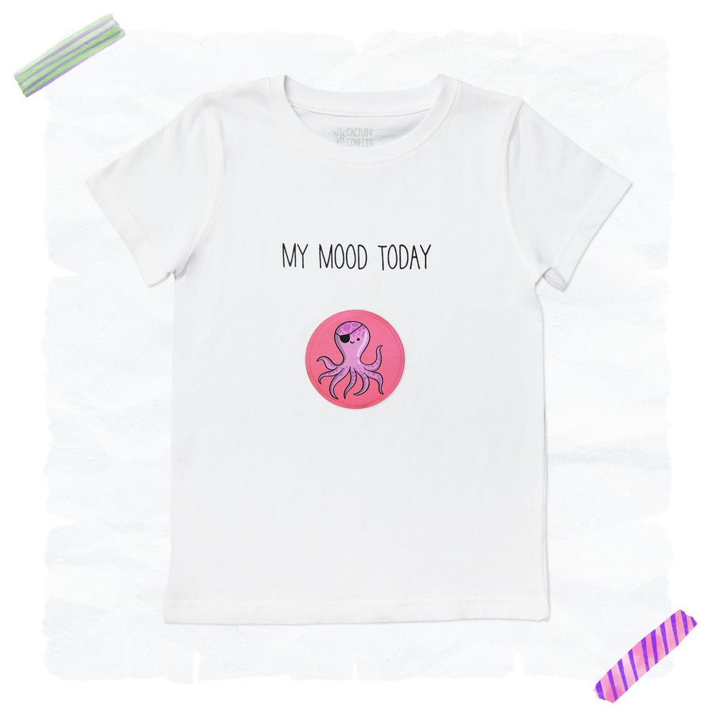 'My Mood Today' T-Shirt | weiß