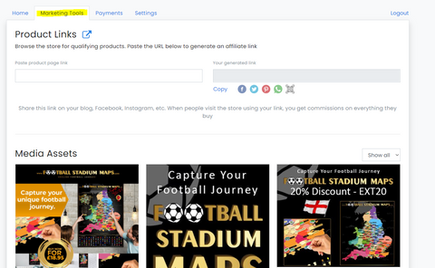 Football promotion page