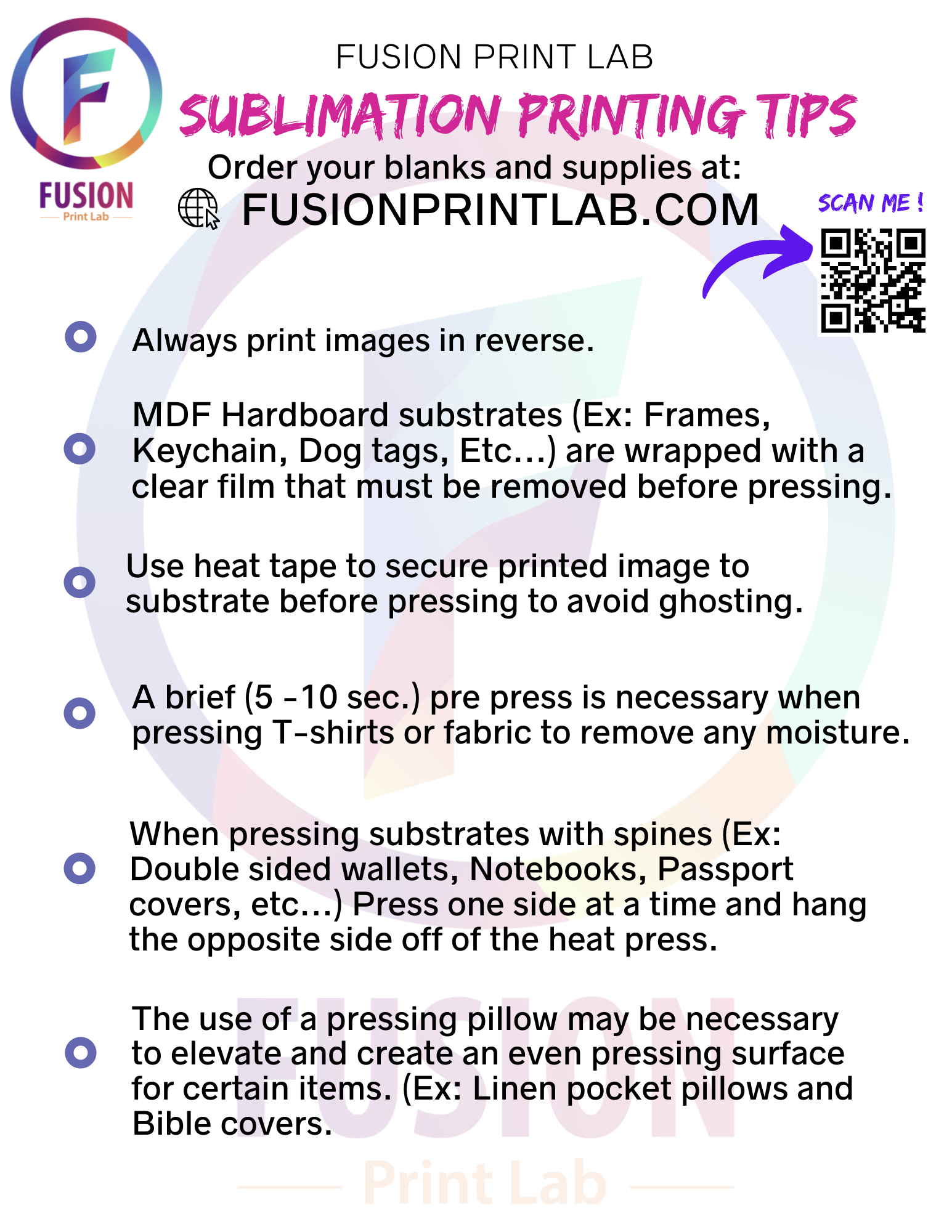 Sublimation Printing Tips