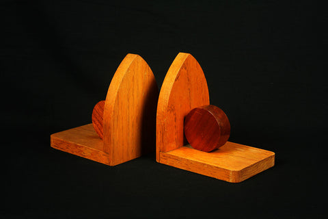 Art Deco Amsterdam School bookends from circa 1930