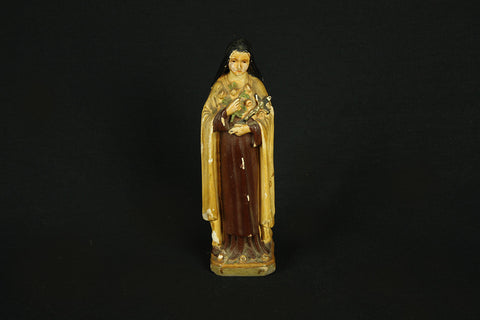 Vintage St. Bernadette figurine from France