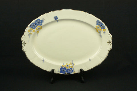 Ceramic Mosa Maastricht plateel plate with flower decor, circa 1970
