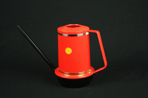 Emsa plastic watering can, red/black version, circa 1960