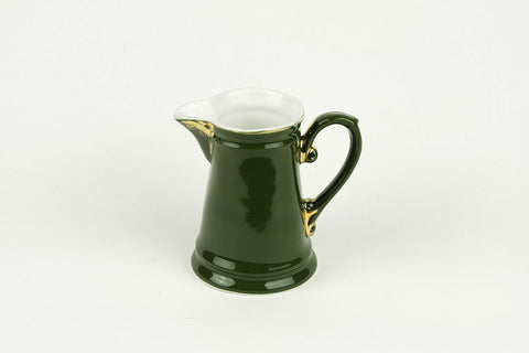 Green porcelain milk jug by S.P.M. Walküre, circa 1930