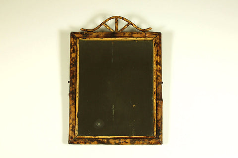 Mirror with real bamboo frame, Boho style, French, circa 1920/30
