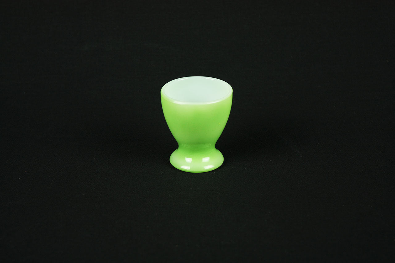 French egg cup by Opale in green version, circa 1960