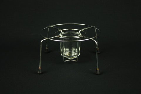 Stainless steel and glass tea light holder from Tomado, circa 1960