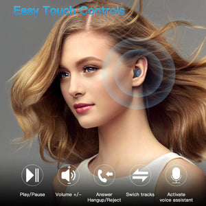 Kurdene Wireless Earbuds,Bluetooth Earbuds with Charging Case - Royal Blue