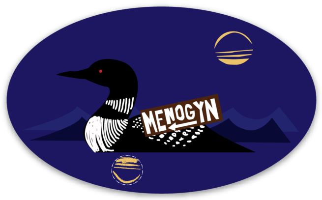 Menogyn Loon Sticker