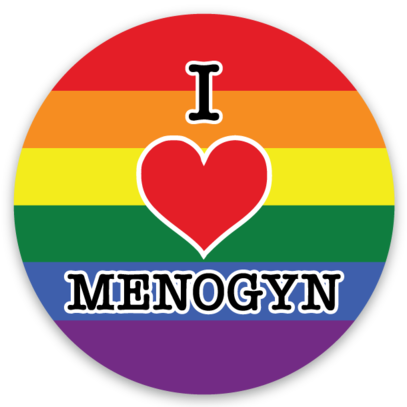 I Heart Menogyn Sticker