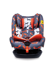 All in All + Group 0+123 Car Seat Charcoal Mister Fox
