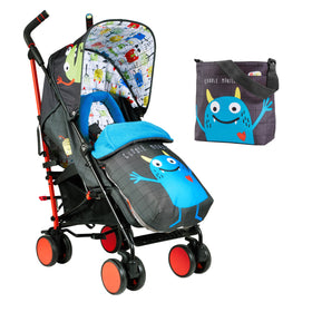 Supa 2 Stroller Monster Mob Black