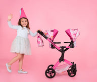 Toodle Tandem Dolls Pram Unicorn Land