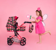 Wonder Dolls Pram Car Seat Fairy Garden