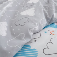 Duvet Cover Set for Cotbed Fairy Clouds