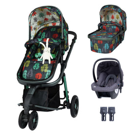 Giggle 3 Travel System Bundle Hold Hare Wood