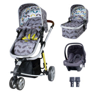 Giggle 3 Travel System Bundle Seedling With Hold Grey