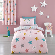 Fitted Bed Sheets Single Happy Stars
